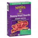 Annie's Homegrown Organic Bunny Fruit Snacks, Berry Patch, 4 Oz [5 Boxes]