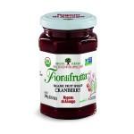 Fiordifrutta Gluten Free Organic Jam Spread, Cranberry, 8.82 OZ  (Case of 6)