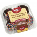 Katz Gluten Free Chocolate Frosted Cupcakes with Sprinkles