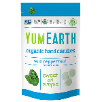 Yummy Earth Organic Gluten Free Wild Peppermint Drops, 3 Oz Pouch (Pack of 6)