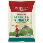 Jackson's Gluten Free Honest Organic Potato Chips Made with Coconut Oil, Sea Salt & VInegar, 5 Oz (12 Pack)