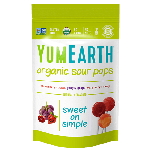Yummy Earth, Gluten Free Organic Super Sour Pops, 3 Oz Pouch (Pack of 6)