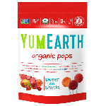 Yummy Earth, Gluten Free Organic Pomegranate Pucker Pops, Family Size, 12.3 Oz Pouch ( Case of 12)