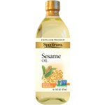 Spectrum Naturals Gluten Free Sesame Oil, Refined, 16 Oz [3 Pack]
