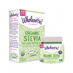 Wholesome Sweeteners Gluten Free Organic Stevia, Sugar Substitute, 75 Packets (Case of 6)