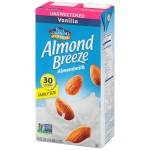 Almond Breeze Gluten Free Almond Milk, Vanilla, Unsweetened, 64 Oz (8 Pack)