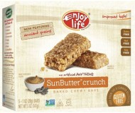 Enjoy Life Gluten Free Chewy Bar, SunButter Crunch, 5 1-oz Bars (6 Boxes)