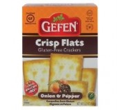 Gefen Gluten Free Crisp Flats, Onion & Pepper, 5.2 Oz. (Case of 12)