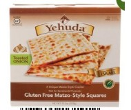 Yehuda Gluten Free Matzo Squares, Toasted Onion, 10.5 Oz Box