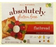 Absolutely Gluten Free Flatbreads, Toasted Onion (Case of 12)