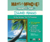 Matt's Munchies, Island Mango Fruit Snack (Case of 12)