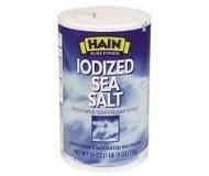Hain Iodized Sea Salt, 26 oz.