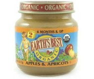 Earth's Best Baby Food Jar, Strained Apples and Apricot