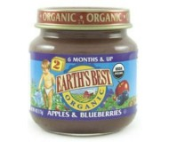 Earth's Best Baby Food Jar, Strained Apples and Blueberries