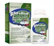 Genceutic Naturals pTeroBlue Pterostilbene Plus Resveratrol - 350 mg - 60 Vcaps