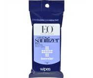 EO® Lavender Hand Sanitizer Wipes Resealable 10 Pack [Case of 6]