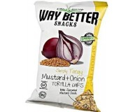 Way Better Snacks, Super Kosher Mustard & Onion Tortilla Chips