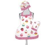 Ruffled Cupcake Apron Set