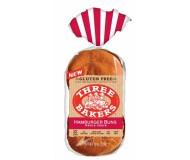 Three Bakers Gluten Free Whole Grain Hamburger Buns(Case of 6)