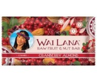 Wai Lana Raw Fruit & Nut Bar, Cranberry Almond