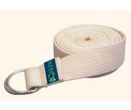 Wai Lana Green, Organic Cotton Yoga Strap (6 Feet), Natural
