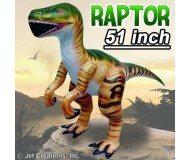 Jet Creations Inflatable Prehistoric Dinosaurs, Velociraptor, 51 Inches Tall [Pack of 28]