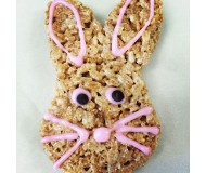 Bunny Brown Rice Crispy Treats, Gluten Free Crispy Rice Treats [Set of 4]
