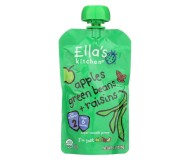 Ella's Kitchen Organic Baby Food - Apples & Green Beans, 3.5 Oz (6 Pouches)