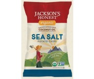Jackson's Honest Organic Potato Chips Made with Coconut Oil, Sea Salt, 5 Oz (12 Pack)