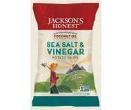 Jackson's Honest Organic Potato Chips Made with Coconut Oil, Sea Salt & Vinegar, 1.2 Oz (36 Pack)