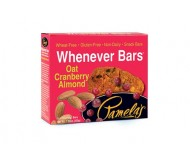 Pamela's Gluten Free Whenever Bars, Oat Cranberry Almond, 5 Bars per box [Case of 6]