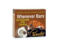 Pamela's Gluten Free Whenever Bars, Oat Chocolate Chip Coconut, 5 Bars per box [Case of 6]
