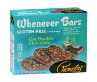 Pamela's Gluten Free Whenever Bars, Oat Double Chocolate, 5 Bars per box [Case of 6]