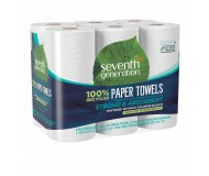 Seventh Generation Paper Towels, 100% Recycled Paper, 2-ply, 140 Sheets, 6 Rolls per pack (4 Six-packs per case)