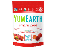 Yummy Earth, Organic Pomegranate Pucker Pops, Family Size, 12.3 Oz
