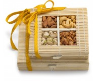 Simply Crave Nuts Gift Basket, Gourmet Food Gift, Nuts Tray Gift Assortment, Classic Unsalted Double Stacker