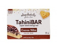 Absolutely Gluten Free Tahini Bars Cocoa Nibs, 4.44 ounce (12 boxes)
