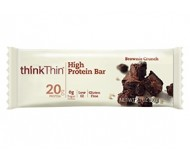 Think Thin High Protein Bars, Brownie Crunch, 2.1 oz [10 Pack]