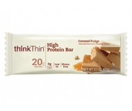 Think Thin High Protein Bars, Caramel Fudge, 2.1 oz [10 Pack]
