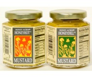 Honey Acres Honey Mustard, Hot, 6.5 Oz Jar
