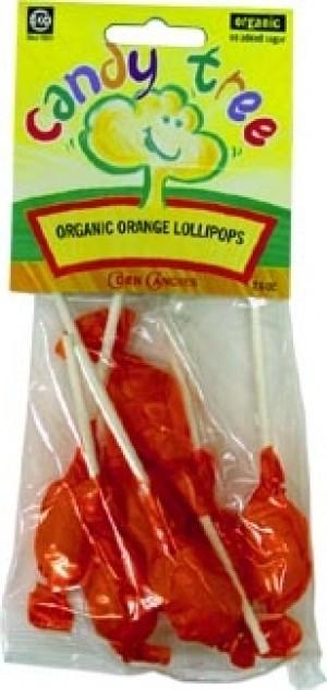 Candy Tree Organic Orange Lollipops (12 Pack)