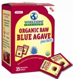 Wholesome Sweeteners Organic Raw Blue Agave Sugar Packets