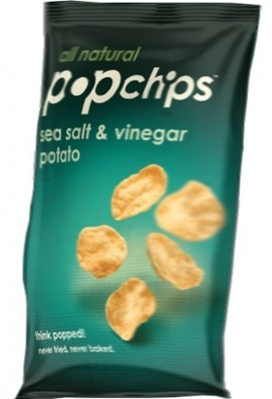 Popchips, Sea Salt Vinegar, 0.80 Oz Bag