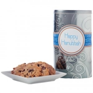 Happy Hanukah! Silver Tall Gluten Free Gift Tin