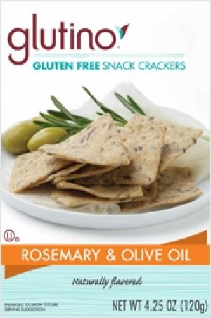 Glutino Gluten Free Snack Crackers, Rosmarie Olive Oil (Case of 6)