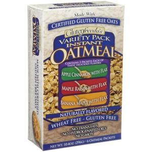 Gluten Freeda Instant Oatmeal Variety Pack