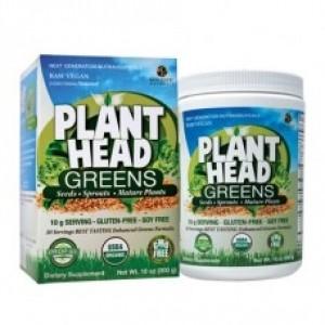 Genceutic Naturals Plant Head Organic Greens Mix, 10 oz