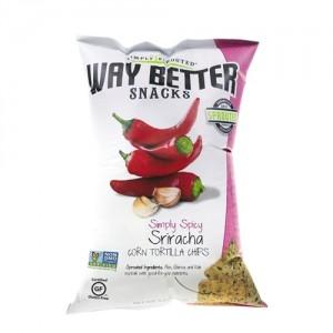 Way Better Snacks, Super Kosher SrirachaTortilla Chips