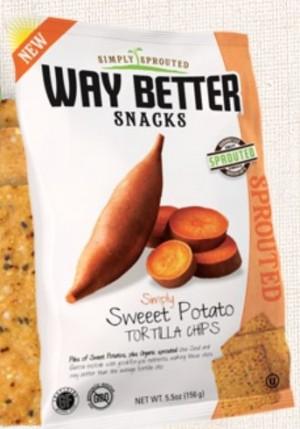 Way Better Snacks, Super Kosher Sweet Potato Tortilla Chips