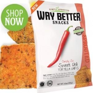 Way Better Snacks, Super Kosher Sweet Chili Tortilla Chips Snack Size